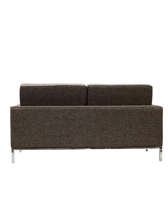 Bateman Beige Wool Love Seat 2