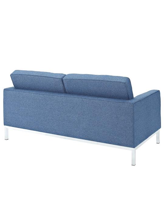 Bateman Blue Wool Love Seat 3