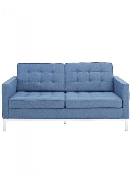 Bateman Blue Wool Love Seat 461x614