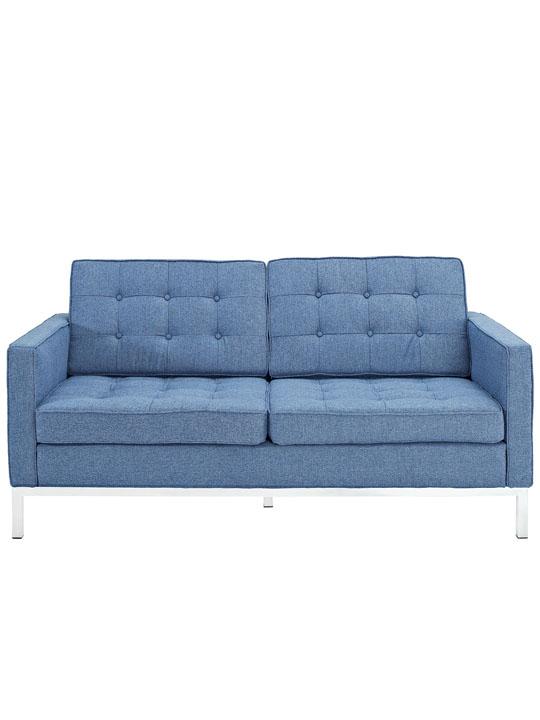 Bateman Blue Wool Love Seat