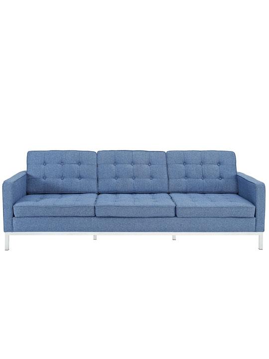 Bateman Blue Wool Sofa
