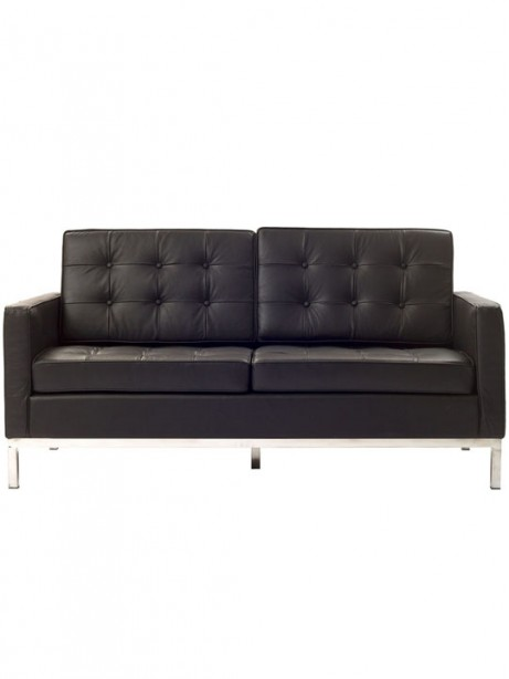 Bateman Brown Leather Loveseat 461x614