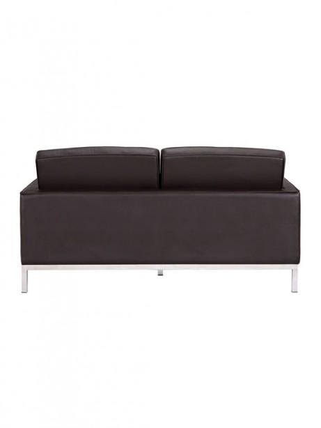 Bateman Brown Leather Loveseat 5 461x614