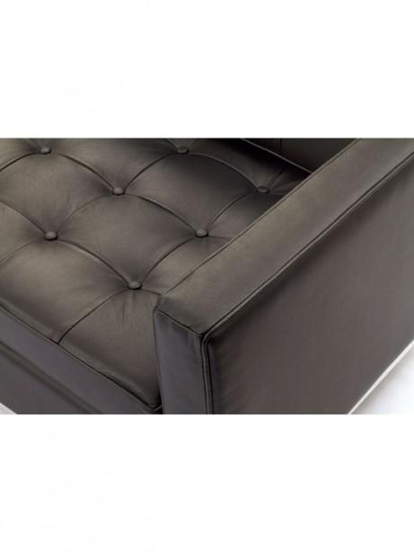 Bateman Brown Leather Loveseat 6 461x614