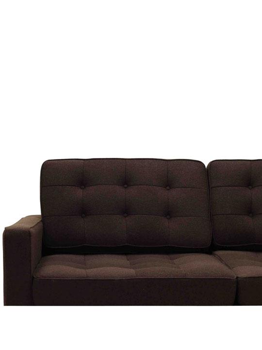 Bateman Brown Wool Love Seat 2