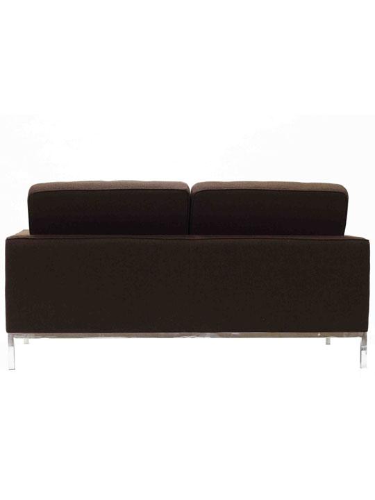 Bateman Brown Wool Love Seat 3