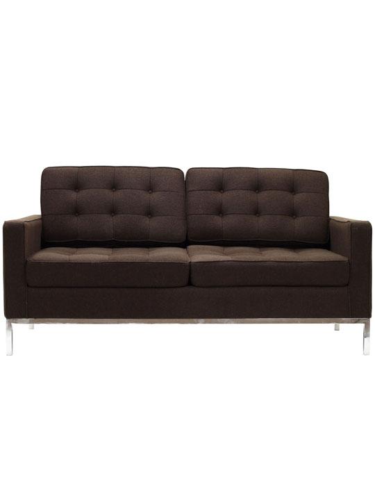 Bateman Brown Wool Love Seat