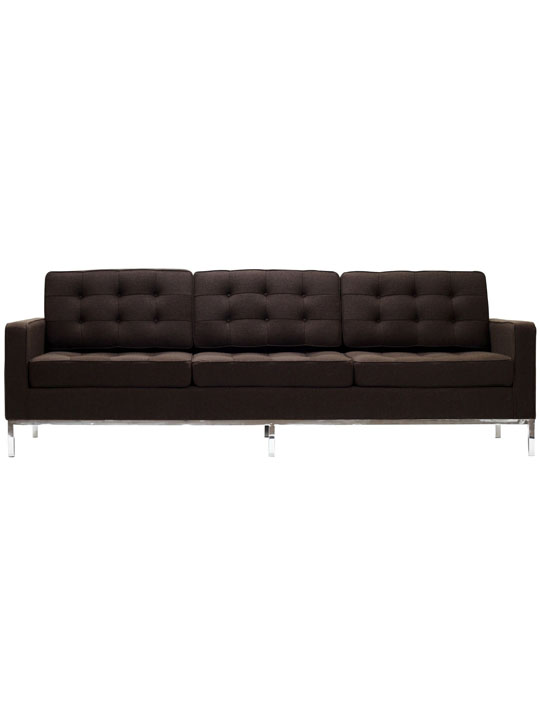 Bateman Brown Wool Sofa