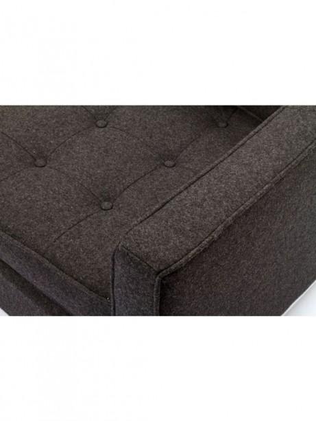 Bateman Dark Gray Wool Love Seat 2 461x614