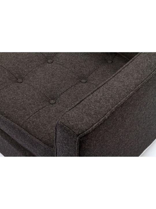 Bateman Dark Gray Wool Love Seat 2