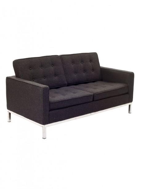 Bateman Dark Gray Wool Love Seat 3 461x614