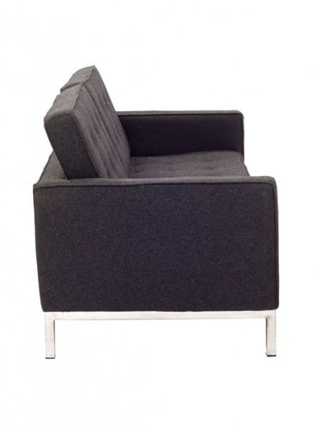 Bateman Dark Gray Wool Love Seat 4 461x614