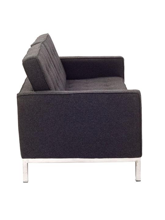 Bateman Dark Gray Wool Love Seat 4
