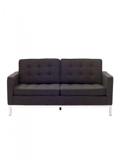 Bateman Dark Gray Wool Love Seat 461x614