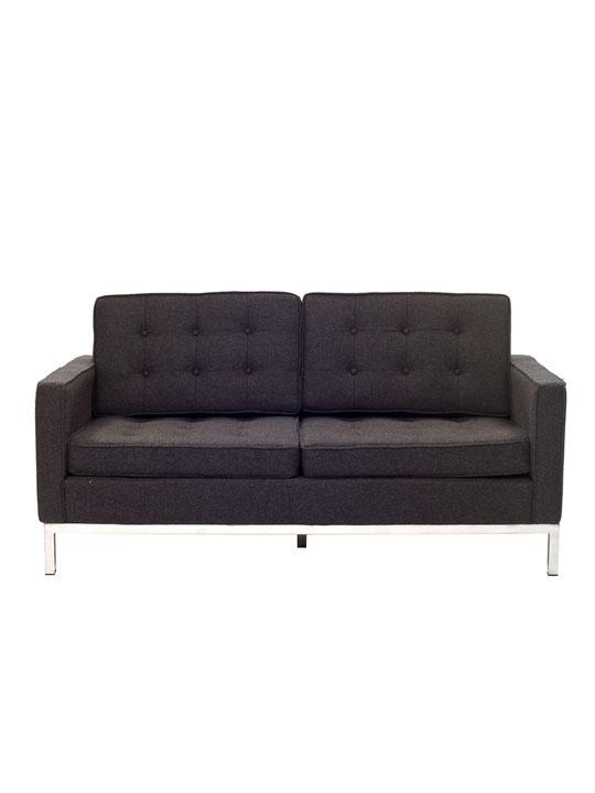 Bateman Dark Gray Wool Love Seat