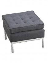 Bateman Dark Gray Wool Ottoman 156x207