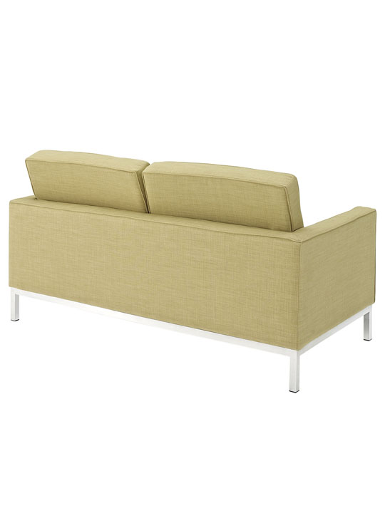 Bateman Green Wool Love Seat 3