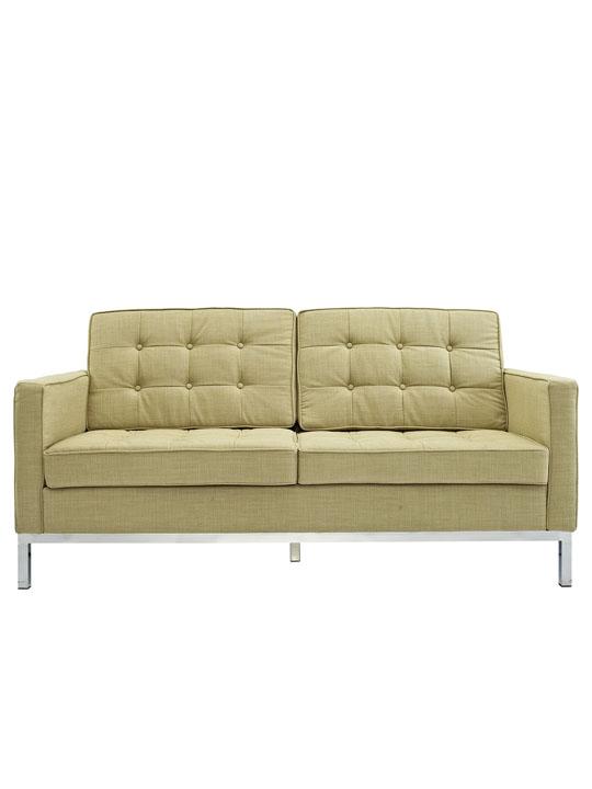 Bateman Green Wool Love Seat