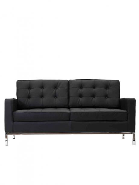 Bateman Leather Loveseat 461x614