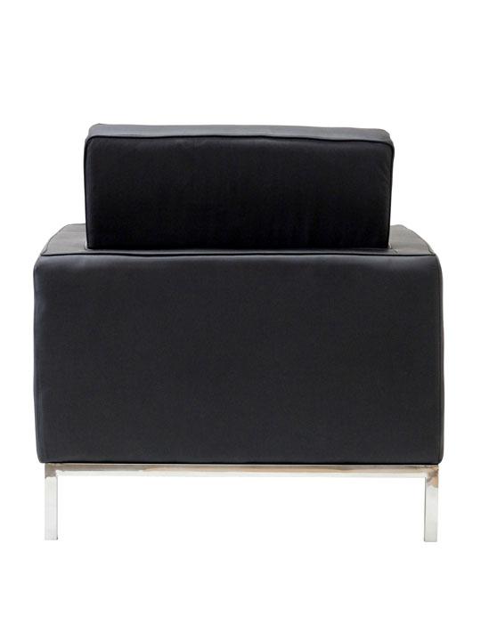 Bateman Leather Sofa Chair Black 3