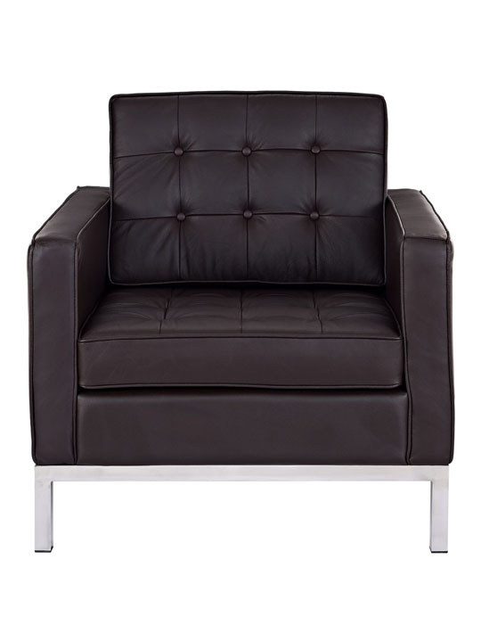Bateman Leather Sofa Chair Brown