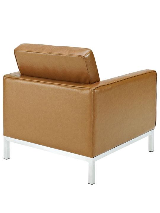 Bateman Leather Sofa Chair Tan 4