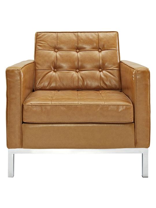 Bateman Leather Sofa Chair Tan