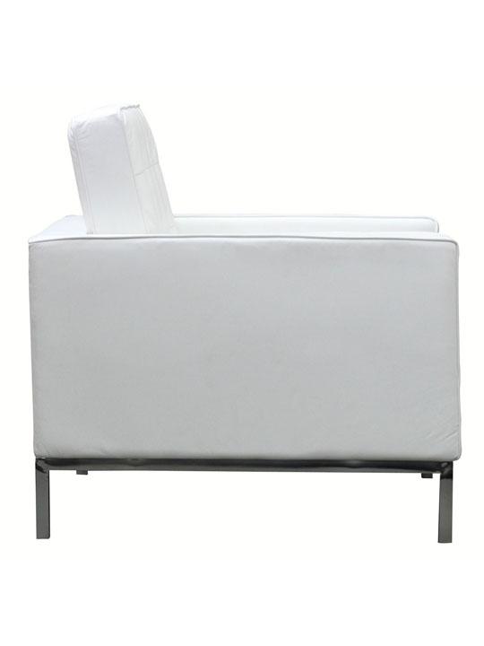 Bateman Leather Sofa Chair White 3