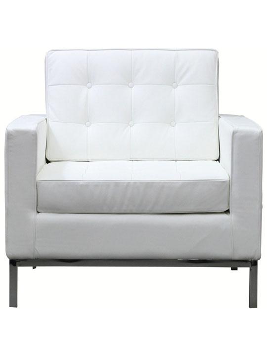 Bateman Leather Sofa Chair White