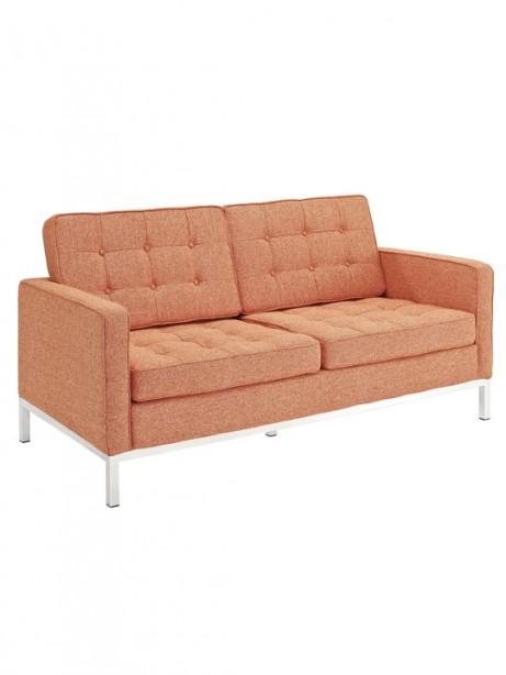 Bateman Orange Wool Love Seat 2 461x614