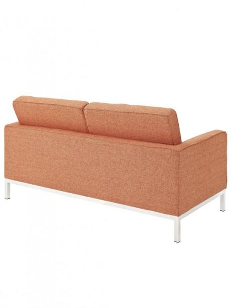 Bateman Orange Wool Love Seat 3 461x614