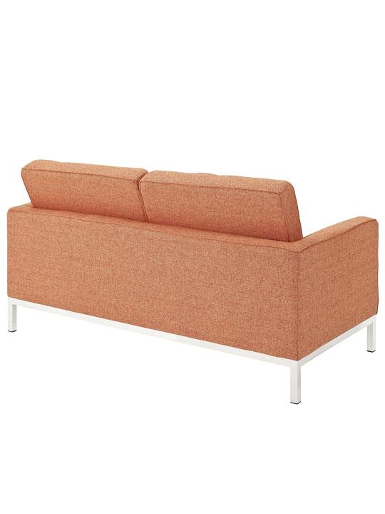Bateman Orange Wool Love Seat 3