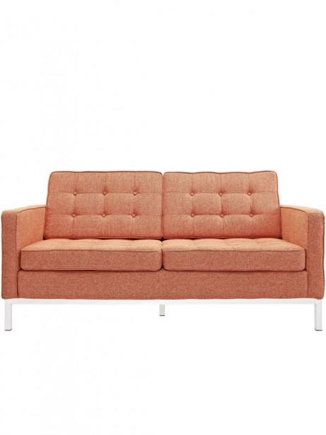 Bateman Orange Wool Love Seat 461x614