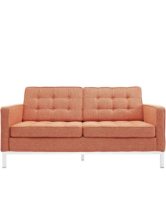 Bateman Orange Wool Love Seat