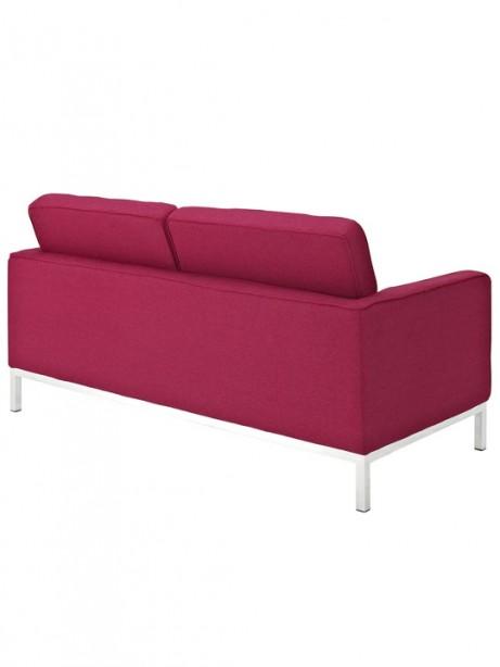 Bateman Red Wool Love Seat 3 461x614