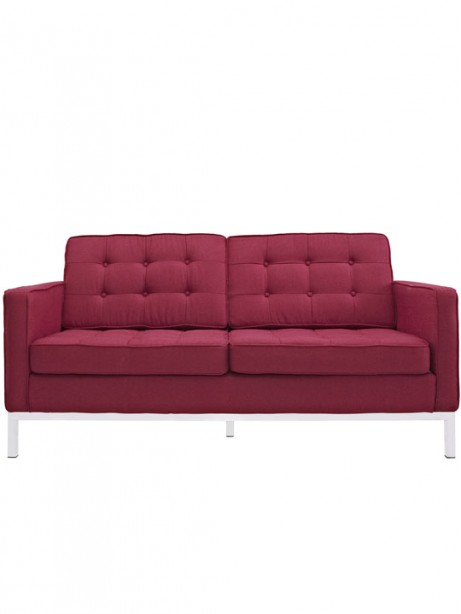 Bateman Red Wool Love Seat 461x614