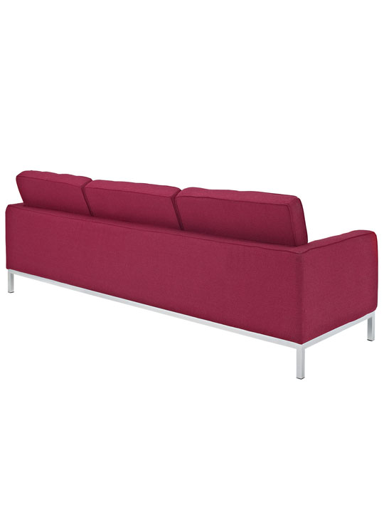 Bateman Red Wool Sofa 2
