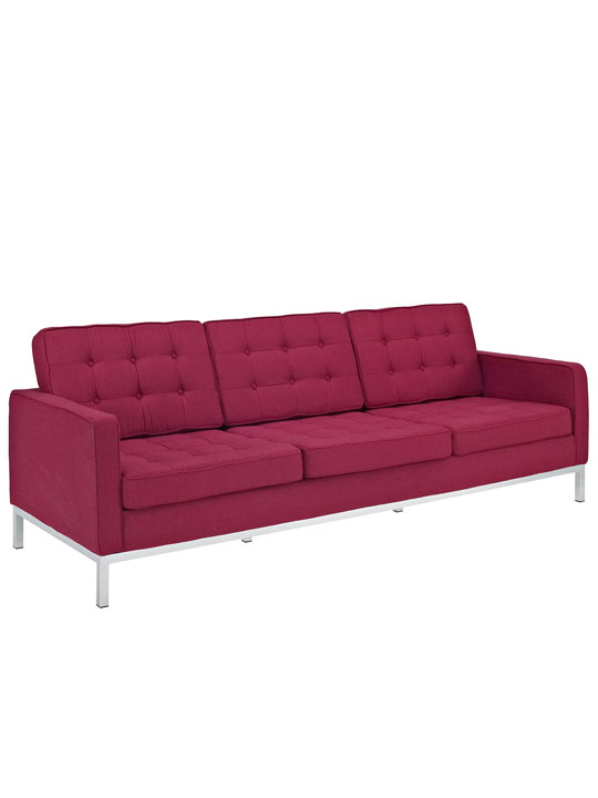 Bateman Red Wool Sofa 3