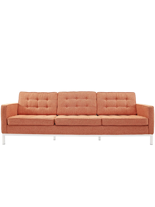 Bateman Red Wool Sofa 4