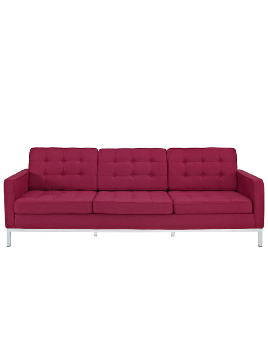Bateman Red Wool Sofa