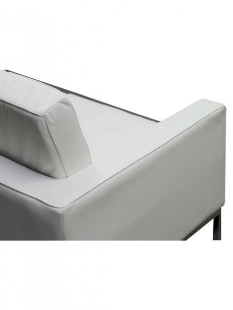 Bateman White Leather Loveseat 2 461x614
