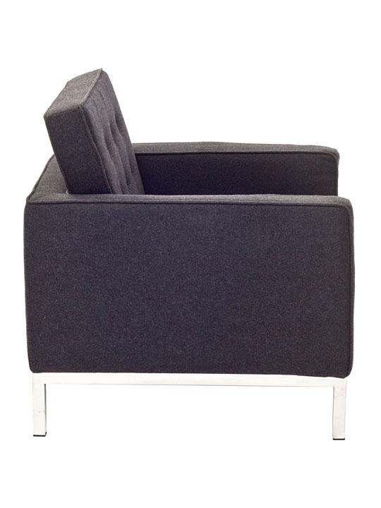 Bateman Wool Armchair Modern Furniture Brickell Collection