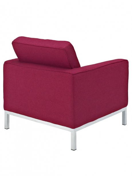 Bateman Wool Armchair Red 461x614