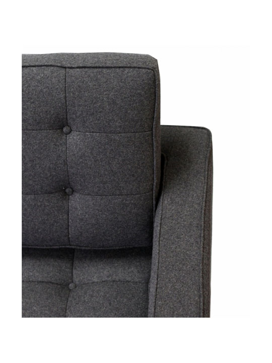 Bateman Wool Sofa Dark Gray 2