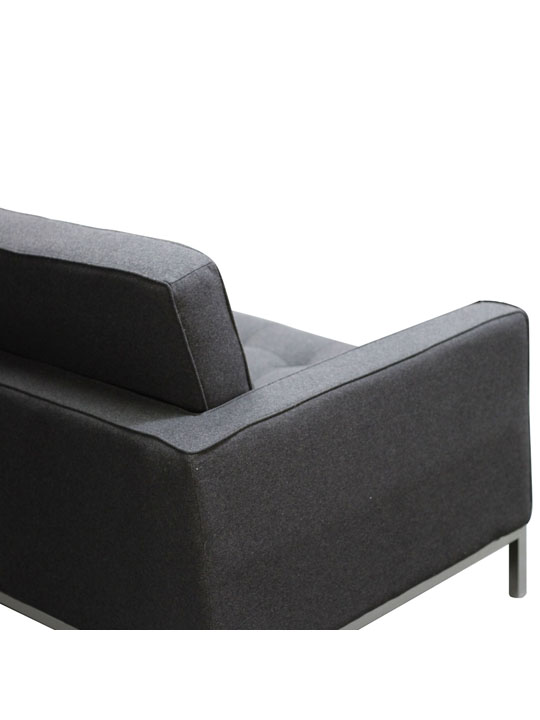 Bateman Wool Sofa Dark Gray 3