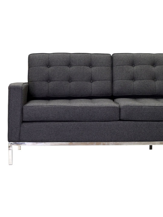 Bateman Wool Sofa Dark Gray 4