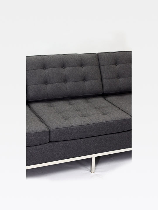 Bateman Wool Sofa Dark Gray 6