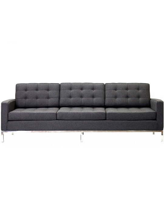 Bateman Wool Sofa Dark Gray