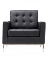 Black Bateman Leather Armchair 1 156x207
