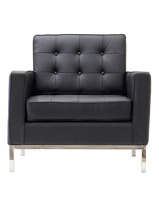 Black Bateman Leather Armchair 1